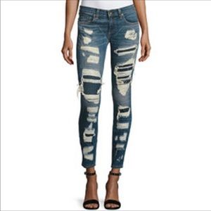 Rag & Bone Dre Skinny Shredded Distressed Jeans